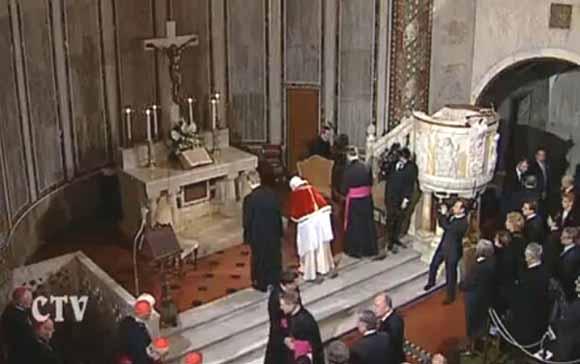 Ratzinger no Templo Luterano de Roma