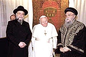 João Paulo II e Rabinos em Israel