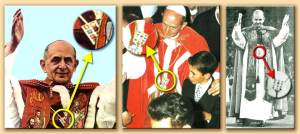Paulo VI usando o Efod judaico-maçonico