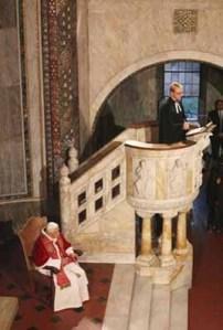 Bento XVI no templo Luterano