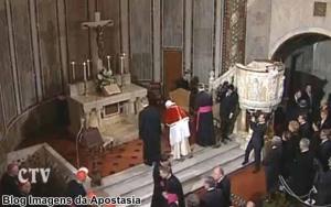 Reverencia ao Altar Luterano por Bento XVI