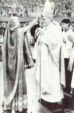 JPII Hindu Blessing, João Paulo II Benção Hindu
