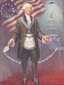 George Washington em trajes maçonicos