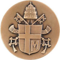 Medalha comemorativa de visita de João Paulo II à UNESCO em 1980