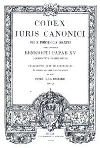Codex Iuris Canonici, Direito Canônico de 1917
