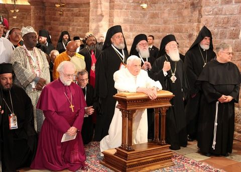 Pope Attends The Day Of Reflection, Dialogue And Prayer In Assisi