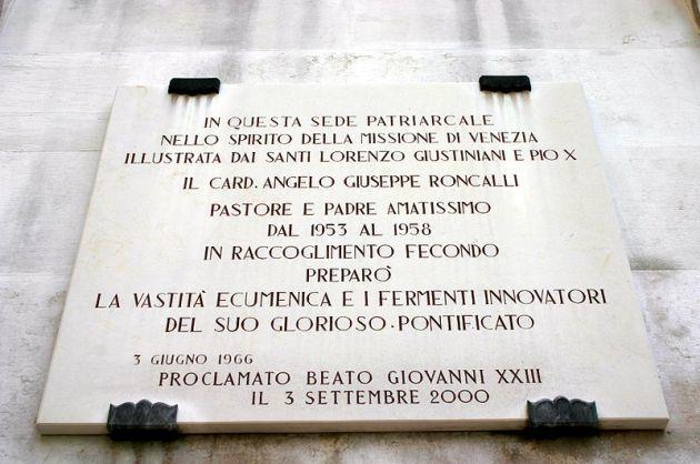 Palácio Patriarcal em Veneza, Lapide de João 23