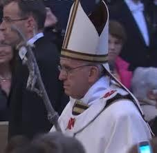 Bergoglio e a cruz