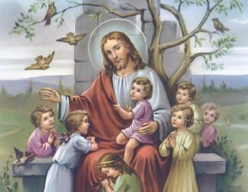 Resultado de imagem para jesus com crianças