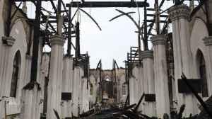 A igreja católica de demolida